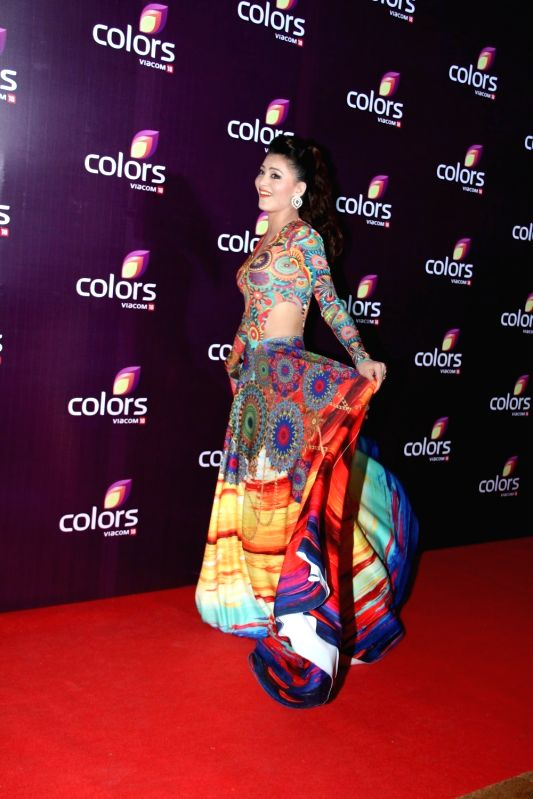 Actress Urvashi Rautela during the Colors Leadership Awards 2015, in Mumbai, on April 18, 2015. - Urvashi Rautela