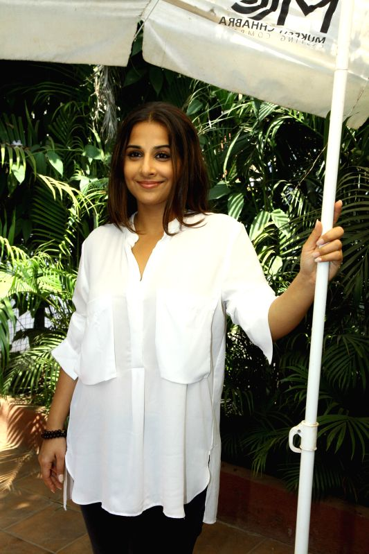 Actress Vidya Balan attends acting workshop at casting agent Mukesh Chabbra's office in Mumbai on 7th February 2015