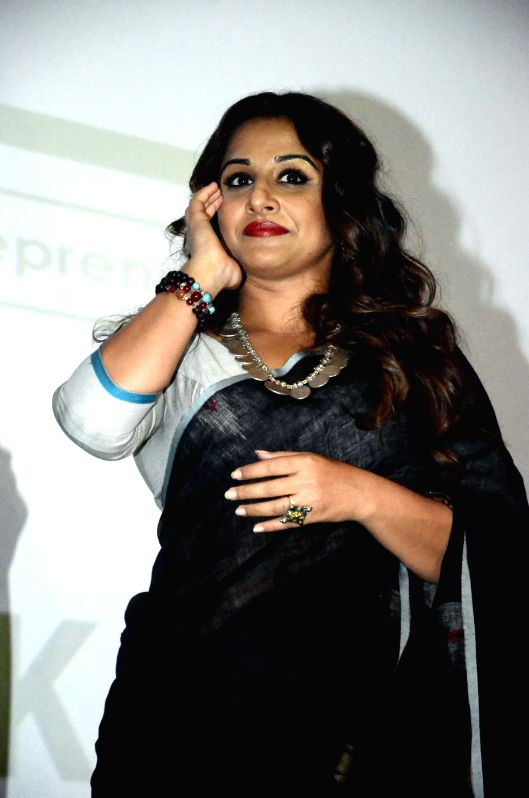 Actress Vidya Balan during the promotion of her upcoming film `Meri Adhuri Kahani` in Mumbai on June 17, 2015.