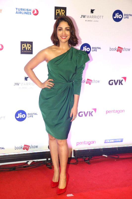Mumbai: Actress Yami Gautam at the opening ceremony of Mami film festival in Mumbai on Oct 25, 2018.