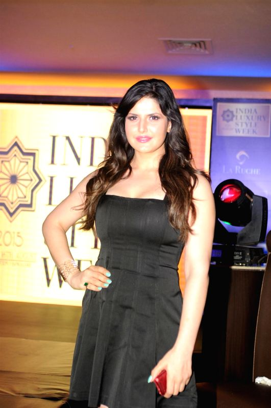Actress Zarine Khan during the announcement of India Luxury Style Week 2015 in Mumbai on, April 28, 2015. - Zarine Khan