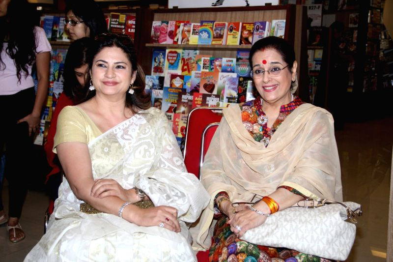 Actresses Kunika Lall and Poonam Sinha during the launch of author Dr P V Vaidyanathan`s book Why not use some common sense in Mumbai, on April 4, 2015. - Kunika Lall and Poonam Sinha