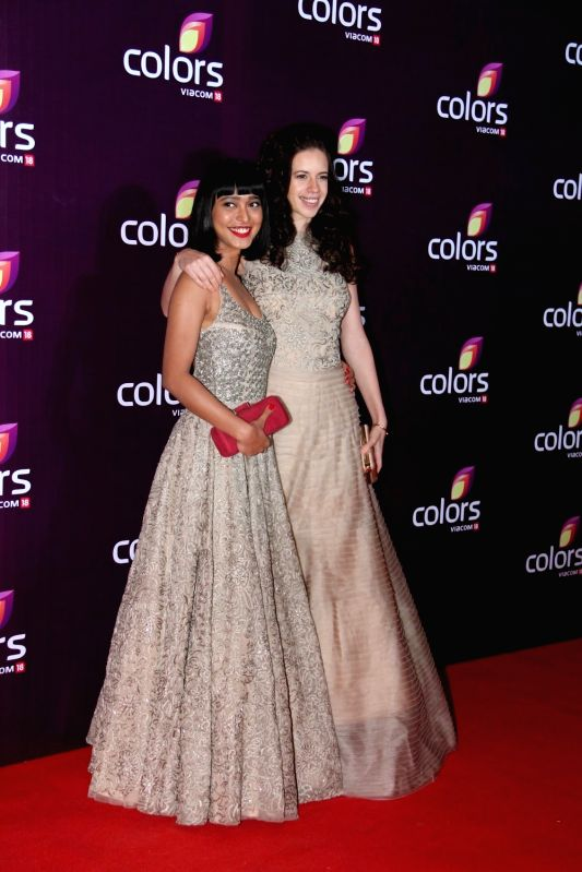 Actresses Sayani Gupta and Kalki Koechlin during the Colors Leadership Awards 2015, in Mumbai, on April 18, 2015. - Sayani Gupta and Kalki Koechlin