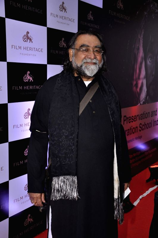 Ad filmmaker Prahlad Kakkar during the inauguration of a workshop organized by the Film Heritage Foundation entitled `Film Preservation and Restoration School India 2015` in Mumbai on Feb 22, ...