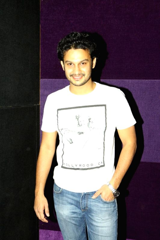 Adinath Kothare during the first look and theatrical trailer launch of Shreyas Talpade starrer `Baji` in Mumbai, on Dec 9, 2014.