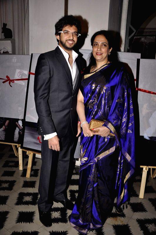 Aditya and Rashmi Thackeray at Game Changers 2015 calendar launch in Mumbai on Jan 18, 2015.