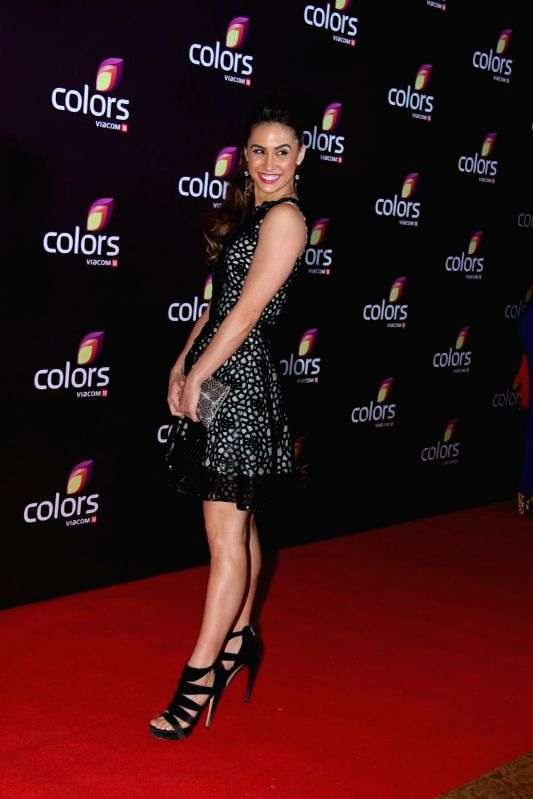 American contemporary dancer and actress Lauren Gottlieb during the Colors Leadership Awards 2015, in Mumbai, on April 18, 2015. - Lauren Gottlieb