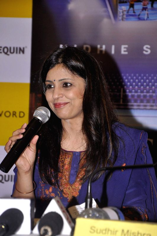 Amrita Chowdhury, India head and director, Harlequin during the launch of book Dancing with Demon in Mumbai, on Nov 18, 2014.