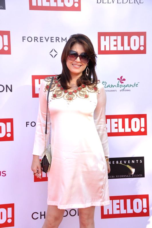 Amrita raichand during the Hello Classic Cup at Mahalaxmi Race Course in Mumbai on Feb. 8, 2015.