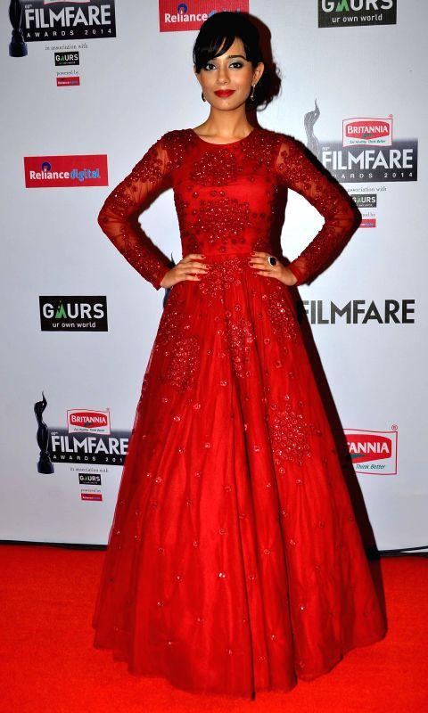 Amrita Rao during the 60th Britannia Filmfare awards in Mumbai, on January 31, 2015. - Amrita Rao