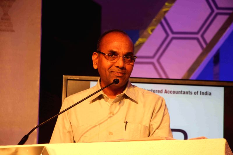 Anant Geete, Minister of Heavy Industries and Public Enterprises of India, during the ICAI CSR Awards 2014 in Mumbai, on Feb 5, 2015.