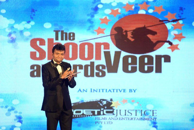 Aneel Murarka during the `Shoorveer Awards` in Mumbai on March 15, 2015.