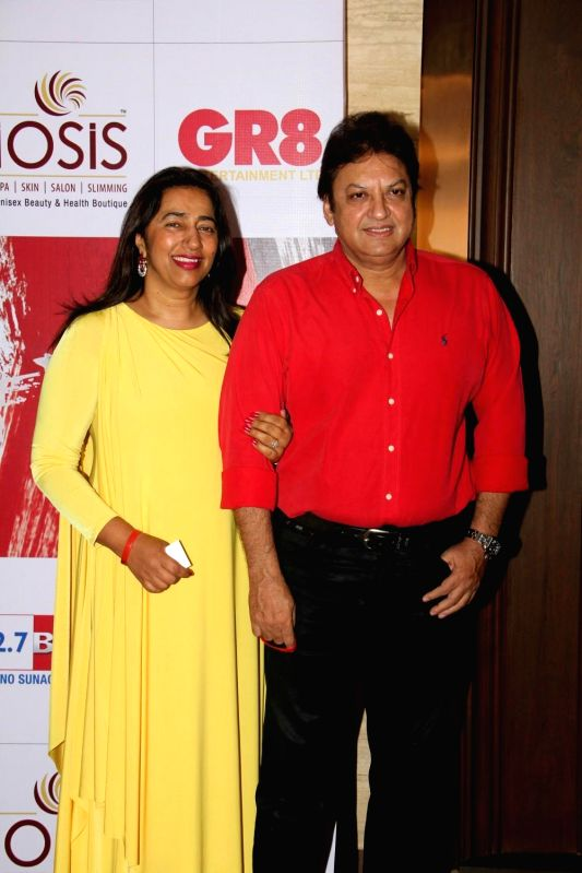 Anu Ranjan, President, Indian television Academy and filmmaker Shashi Ranjan during the charity event, Be with Beti, to celebrate International Women`s Day, in Mumbai, on March 8, 2015.