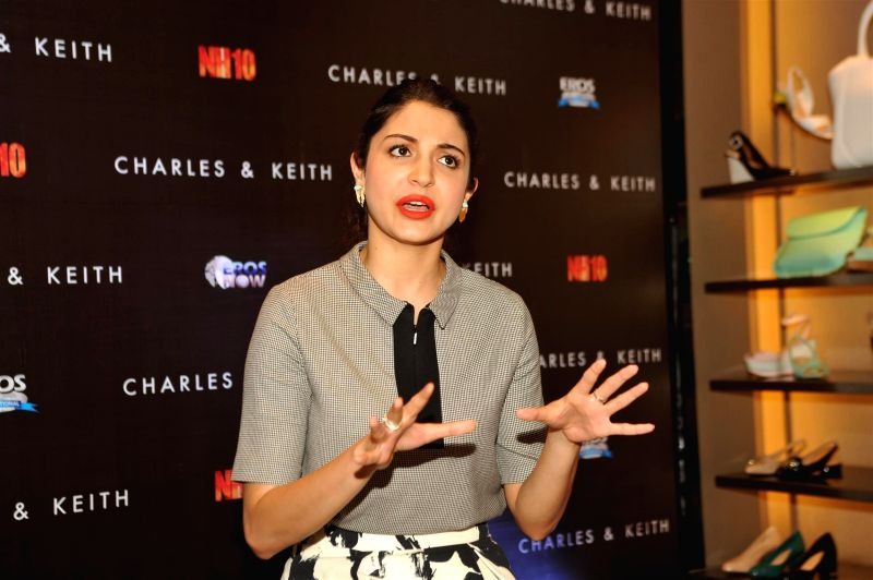 Anushka Sharma at the launch of Charles & Keith Spring Summer 2015 collection with promotion of film NH10 in Mumbai on March 4, 2015.