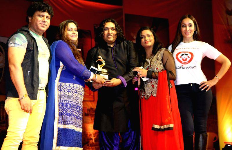 Arvind, June,Shabab Sabri, Swati Sharma and Sofia Hayat during the Rajasthan Day celebration in Mumbai on March 30, 2015. - Swati Sharma