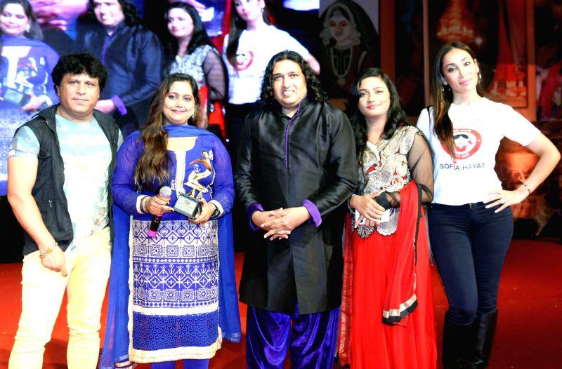 Arvind, June,Shabab Sabri, Swati Sharma and Sofia during the Rajasthan Day celebration in Mumbai on March 30, 2015. - Swati Sharma