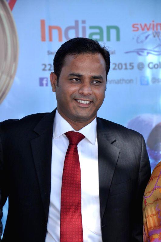Ashish Agarwal managing Director Square Off Sports at Swimmathon 2015 press conference in Mumbai on Feb 17, 2015. (Photo : IANS)