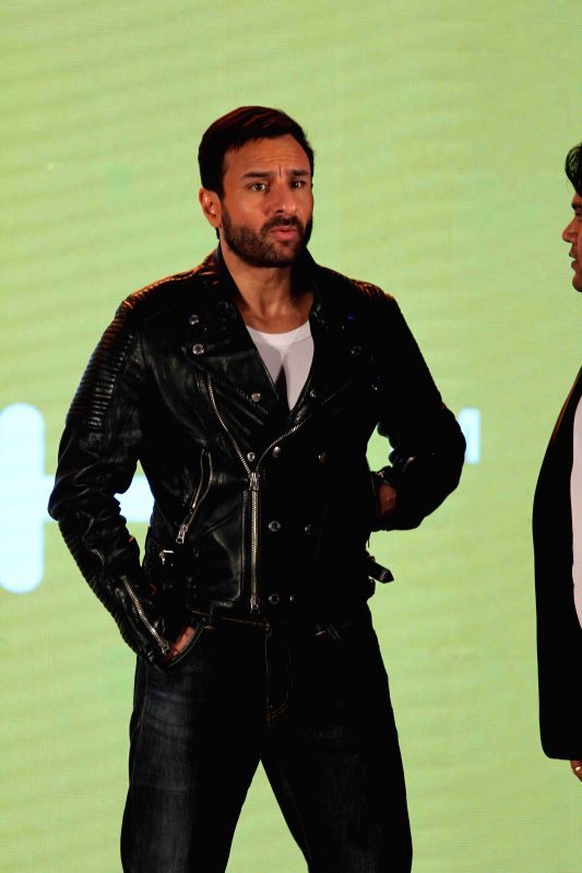 Ator Saif Ali Khan during the launch of fashion brand Spunk in Mumbai on Feb 26, 2015.