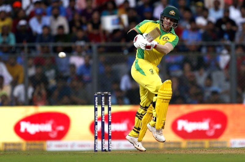Mumbai: Australia's David Warner in action during the first ODI between India and Australia at the Wankhede Stadium in Mumbai on Jan 14, 2020. (Photo: Surjeet Yadav/IANS)
