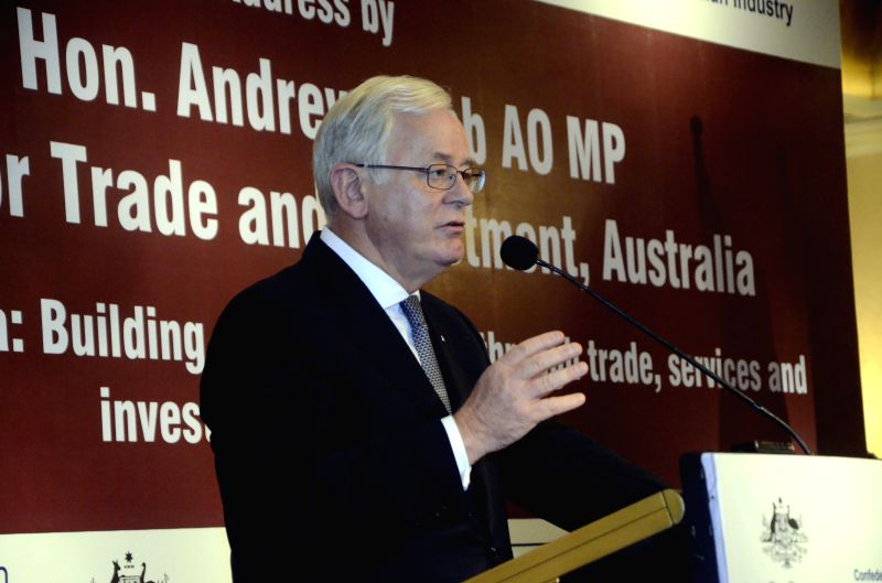 Australian Minister for Trade and Investment Andrew Robb AO during a CII programme in Mumbai, on April 22, 2015.