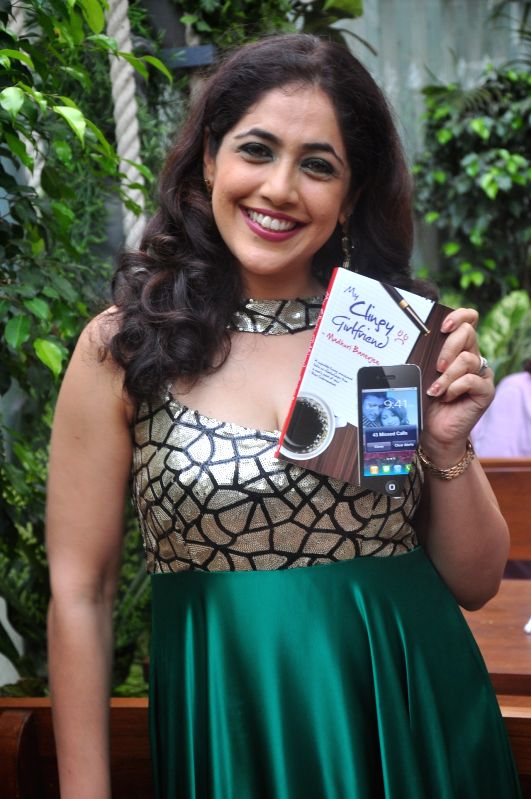 Author Madhuri Banerjee during launch of her book My Clingy Girlfriend in Mumbai on 7 April 2015. - Madhuri Banerjee