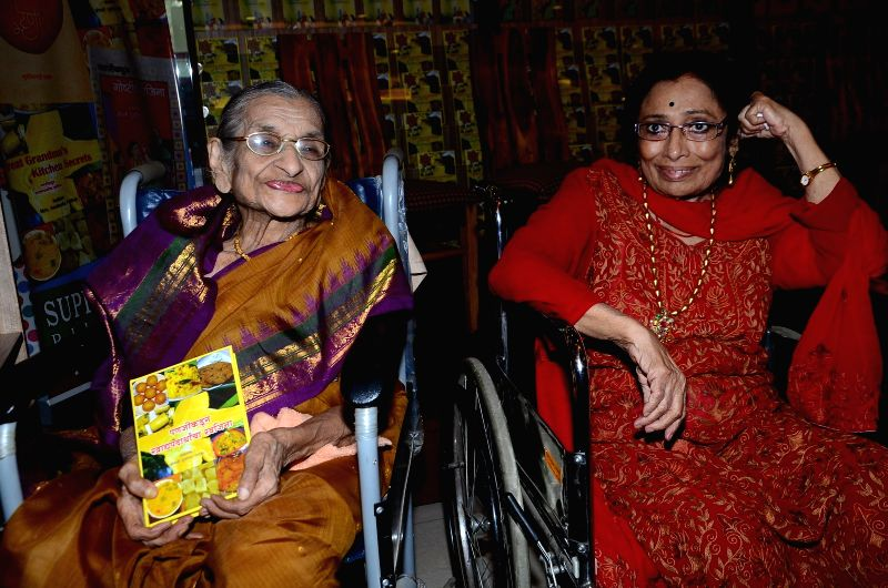 Author Susheela Pathak during her book launch `Great Grandma`s Kitchen Secret` in Mumbai on  March 29, 2015.