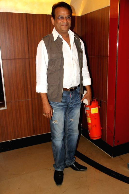 Bappa Joshi during the premiere of Marathi film Coffee ANi Barach Kahi in Mumbai on Thursday, April 2, 2015. - Bappa Joshi
