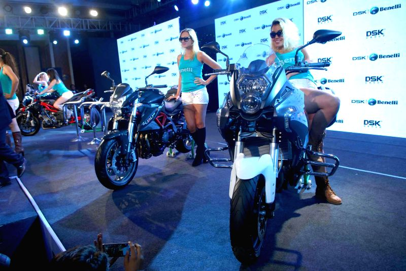 Benelli in collaboration with DSK Motowheels launches five superbikes in Mumbai on March 19, 2015.