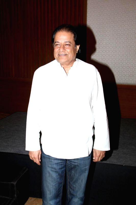 Bhajan singer Anup Jalota during the success of the World Music Symphony in Mumbai on Feb 27, 2015.