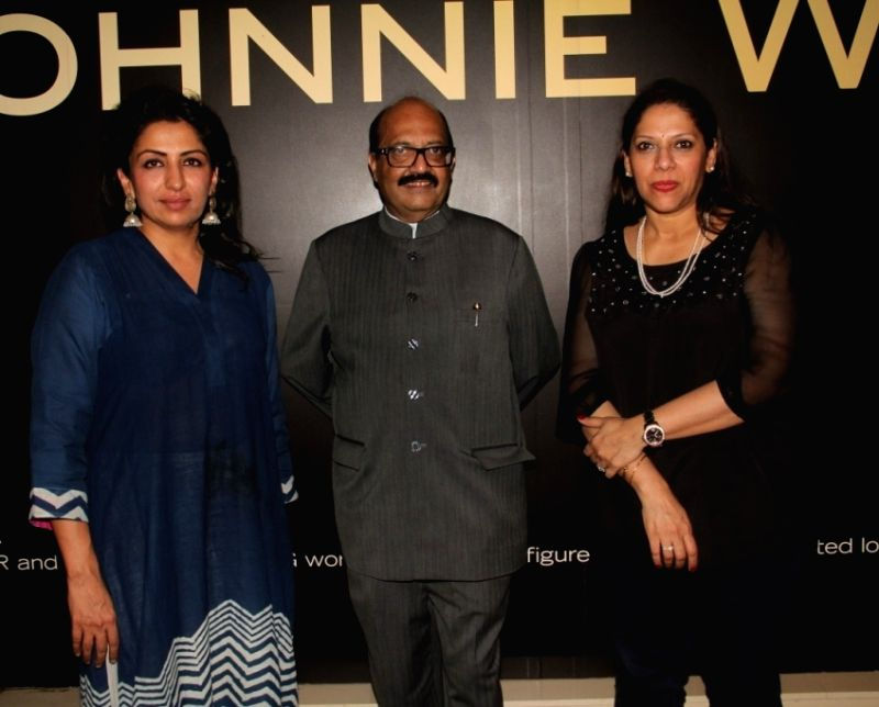 Bhavna Talwar, Amar Singh and Dr. Sangeeta Seetharaman at a party hosted by Amar Singh for the 50th birthday of Mrs. Sangeeta Seetharaman during the 50th birthday of Sangeethi Seetharaman, in ...