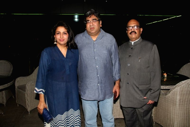 Bhavna Talwar, Sheetal Talwar and Amar Singh at a party hosted by Amar Singh for the 50th birthday of Mrs. Sangeeta Seetharaman during the 50th birthday of Sangeethi Seetharaman, in Mumbai, ...