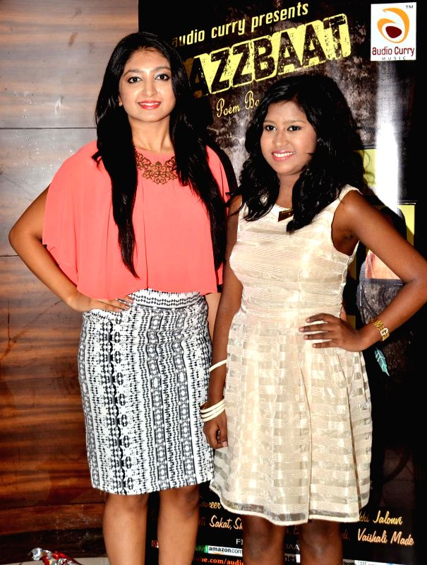Bhoomi Trivedi and Sanchiti Sakat during the launch of Jazzbaat, a music album in Mumbai, on April 22, 2015.
