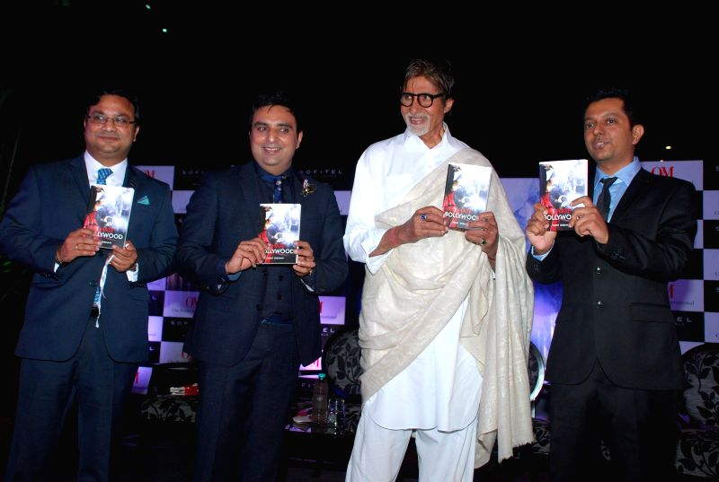 Biswajit Chakraborty, General manager, Sofitel Hotel, Ajay Mago, Publisher, Om Books International, Bollywood actor Amitabh Bachchan and Journalist Rohit Khilnani during the launch Rohit ... - Amitabh Bachchan, Biswajit Chakraborty and Rohit Khilnani