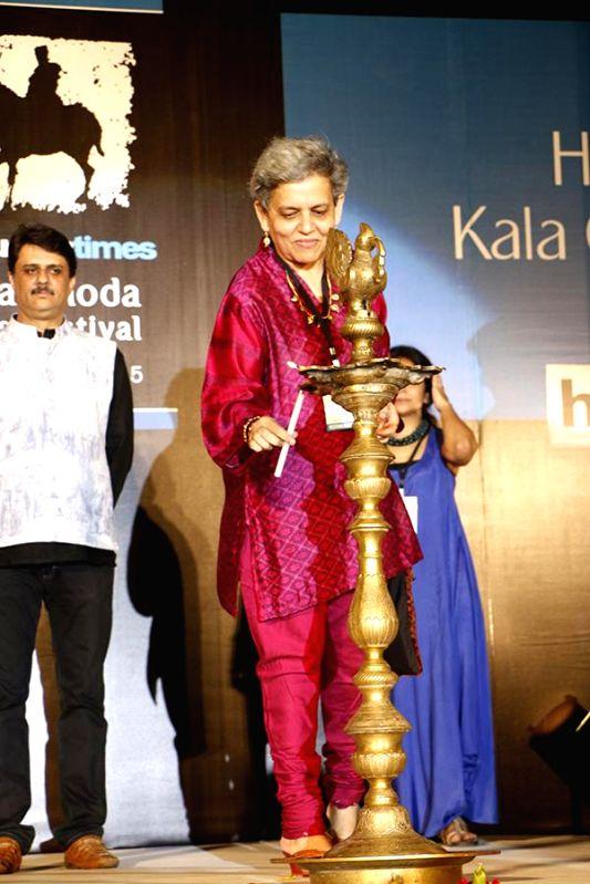 Brinda Miller Festival Director KGAF 15 during the inauguration of Kala Ghoda festival in Mumbai on Feb. 7, 2015.