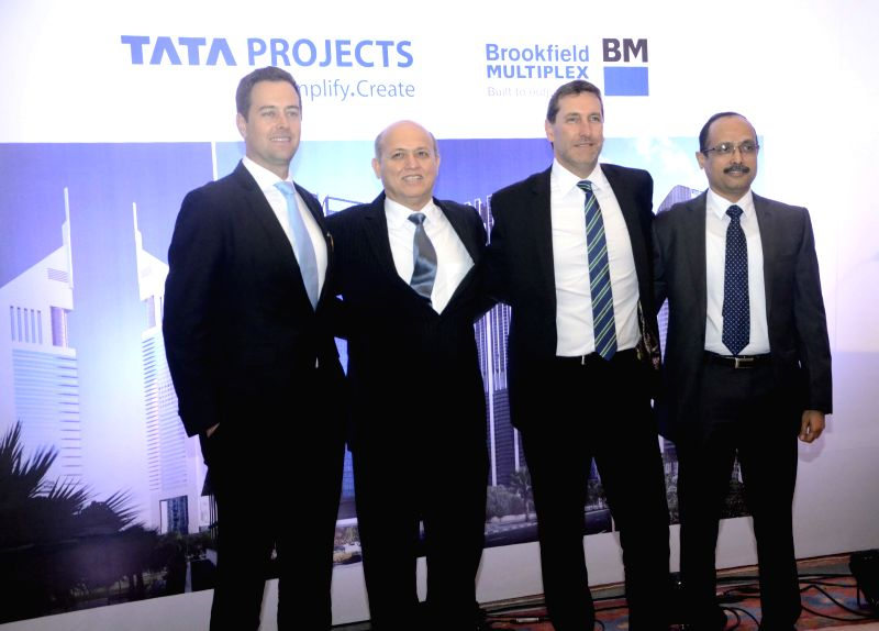 Brookfield Multiplex Australasia CEO John Flecker and Tata Projects MD Vinayak Deshpande during a programme organised to announce a tie up between Tata Projects and Brookfield Multiplex in ...