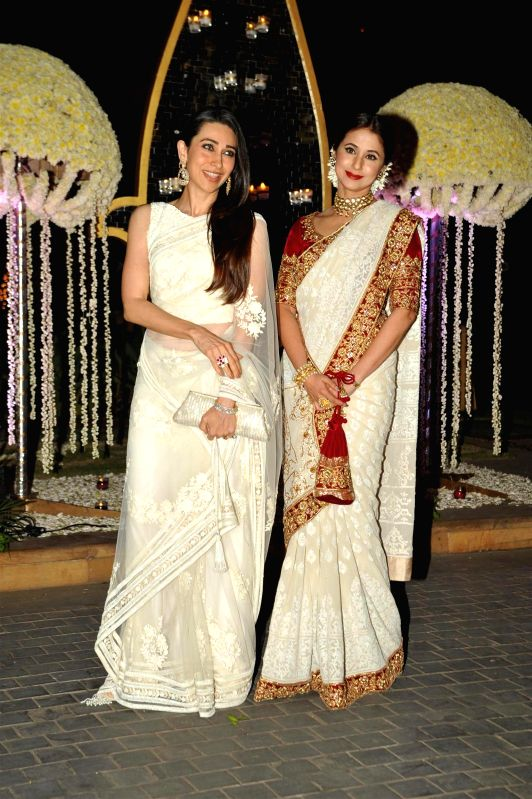 Celebs at wedding reception of Manish Malhotra`s niece Riddhi Malhotra in Mumbai on Monday, Dec. 15, 2014.