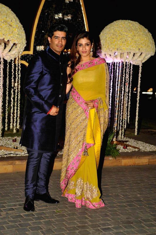 Celebs at wedding reception of Manish Malhotra`s niece Riddhi Malhotra in Mumbai on Monday, Dec. 15, 2014.
