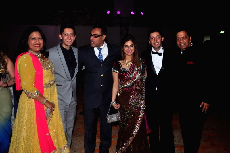 Celebs during the Shirin Morani and Udhay Ali`s marriage reception, in Mumbai on Dec 21, 2014.