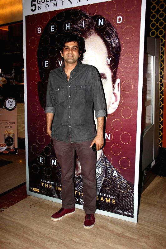 Celebs during the Special Screening of BAFTA and Golden Globe Nominated Film `The Iimitation Game` by Anurag Kashyap at PVR, Andheri, in Mumbai, on Jan. 10, 2015. - Anurag Kashyap