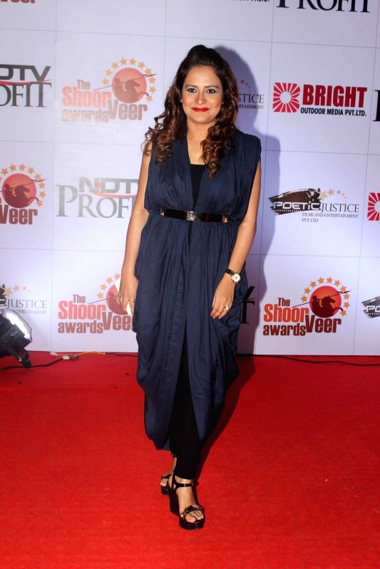 Celebs during the The Shoorveer Awards 2015 in Mumbai on March 14, 2015.