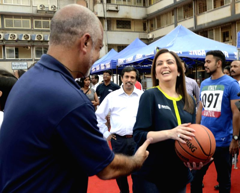 Chairperson of Reliance Foundation Nita Ambani during Reliance Foundation Jr. NBA Program at a Mumbai school on Dec 2, 2014. ​ - Foundation Nita Ambani