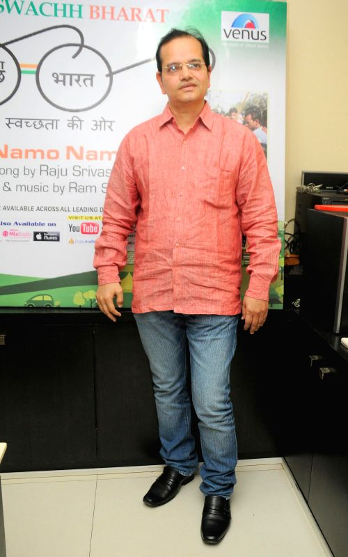 Champak Jain, Director, Venus Entertainment Pvt Ltd during the music album launch of Mera Sachh Bharat in Mumbai, on Jan. 22, 2015. - Champak Jain
