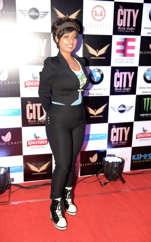 Chandreyie Sarkar during Rashmi Pitre's art collection showcase at the City Week Ender - A Perfect Luxury Mixer in Mumbai on Sunday, April 26th, 2015