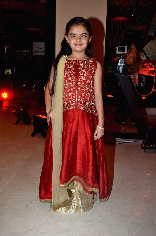 Child actress Ruhanika during Karan Patel and Ankita Bhargava`s engagement and sangeet ceremony at the Novotel Hotel in Juhu, Mumbai on 1st May, 2015. - Ruhanika