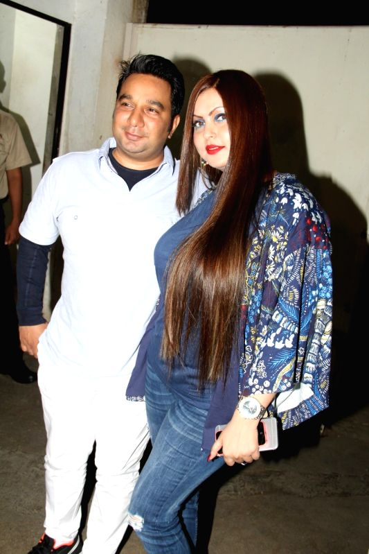 Choreographer Ahmed Khan along with his wife Shaira Khan during the special screening of film Ek Paheli Leela in Mumbai on April 9, 2015. - Ahmed Khan and Shaira Khan