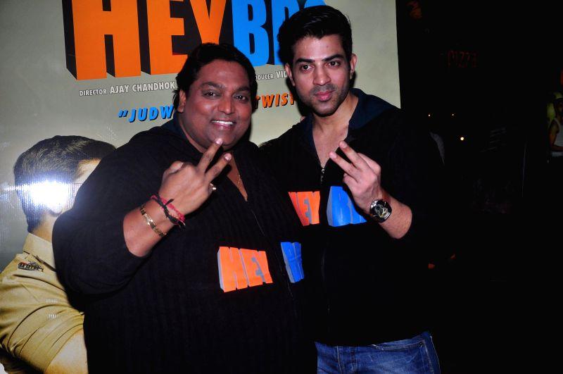 Choreographer and actor Ganesh Acharya with actor Manindar Singh during the trailer launch of film 'Hey Bro' in Mumbai on Jan. 15, 2015. - Ganesh Acharya and Manindar Singh