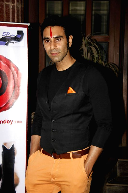 choreographer and actor Sandip Soparrkar during the muhurat and song recording of film JD in Mumbai, on 5th Jan 2015 - Sandip Soparrkar