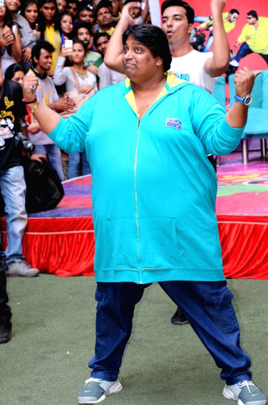 Choreographer Ganesh Acharya and others during promotion of their upcoming film `Hey Bro` in Mumbai, on Feb 6, 2015.