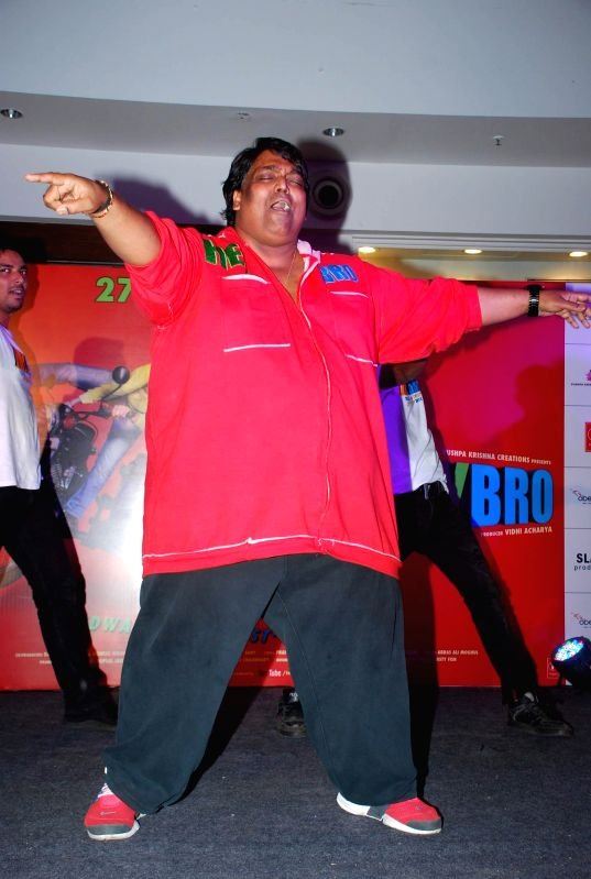 Choreographer Ganesh Acharya during the promotion of his film Hey Bro in Mumbai, on Feb 14, 2015.