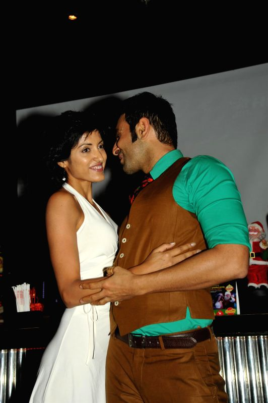 Choreographer Sandip Soparkar with his wife Jesse Randhawa during the celebration for National Achievement Award and Christmas party and in Mumbai, on Dec. 22, 2014.